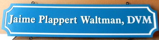 BB11747 -  Carved Nameplate for Doctor of Veterinary Medicine, DVM