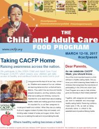 CACFP Week March 12-18 2017