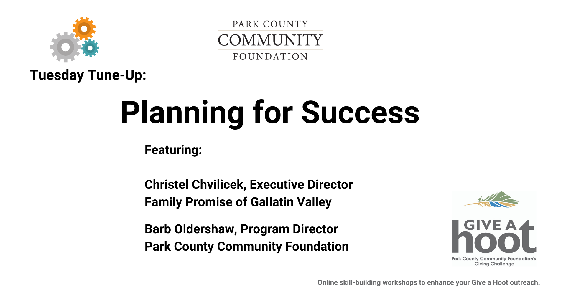 Planning for Success: May 19, 2020
