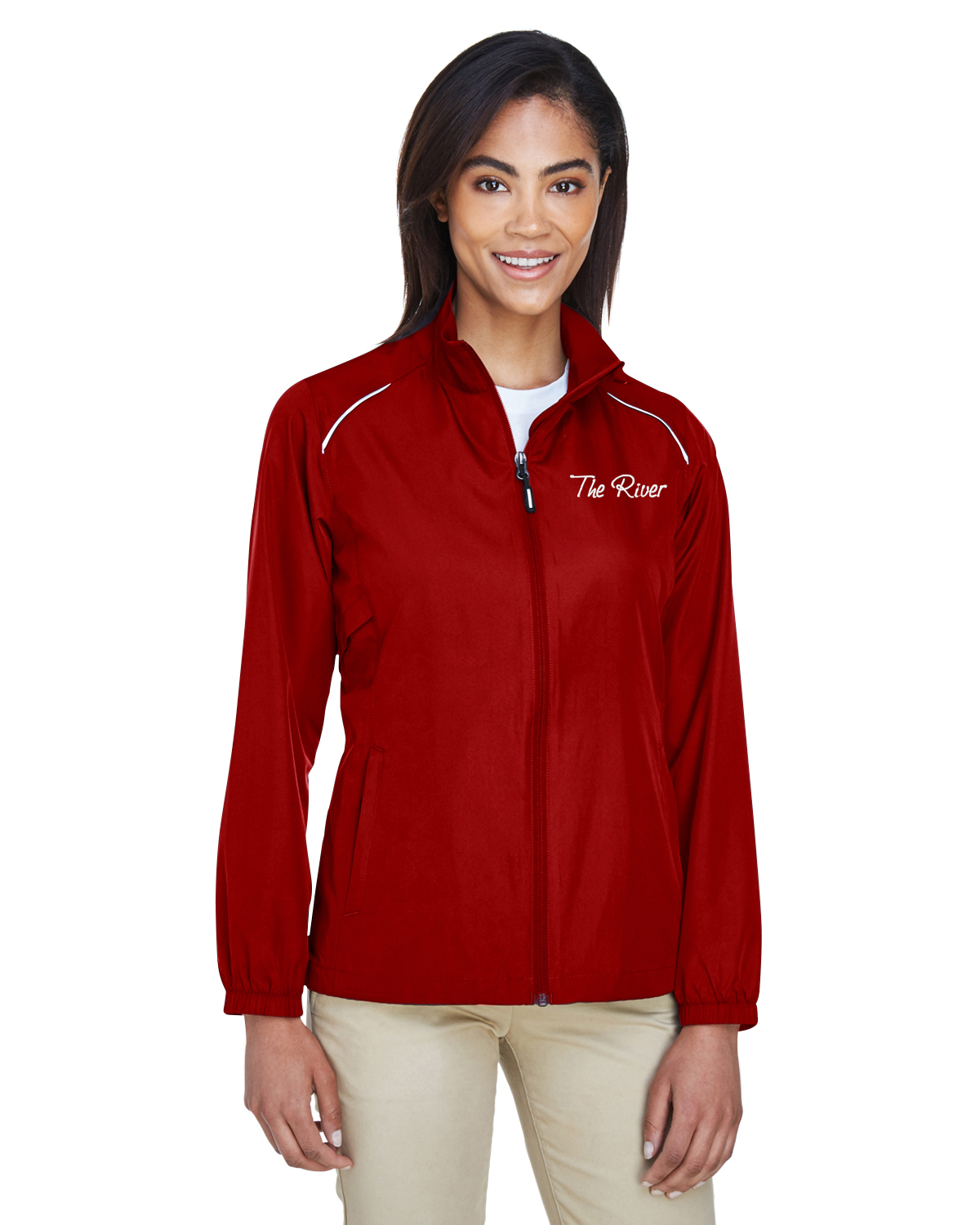 78183Prime Plus Core 365 Ladies' Motivate Unlined Lightweight Jacket Classic Red