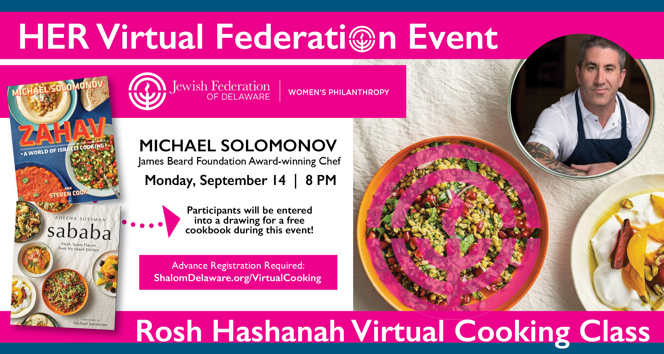 Rosh Hashanah Virtual Cooking Event