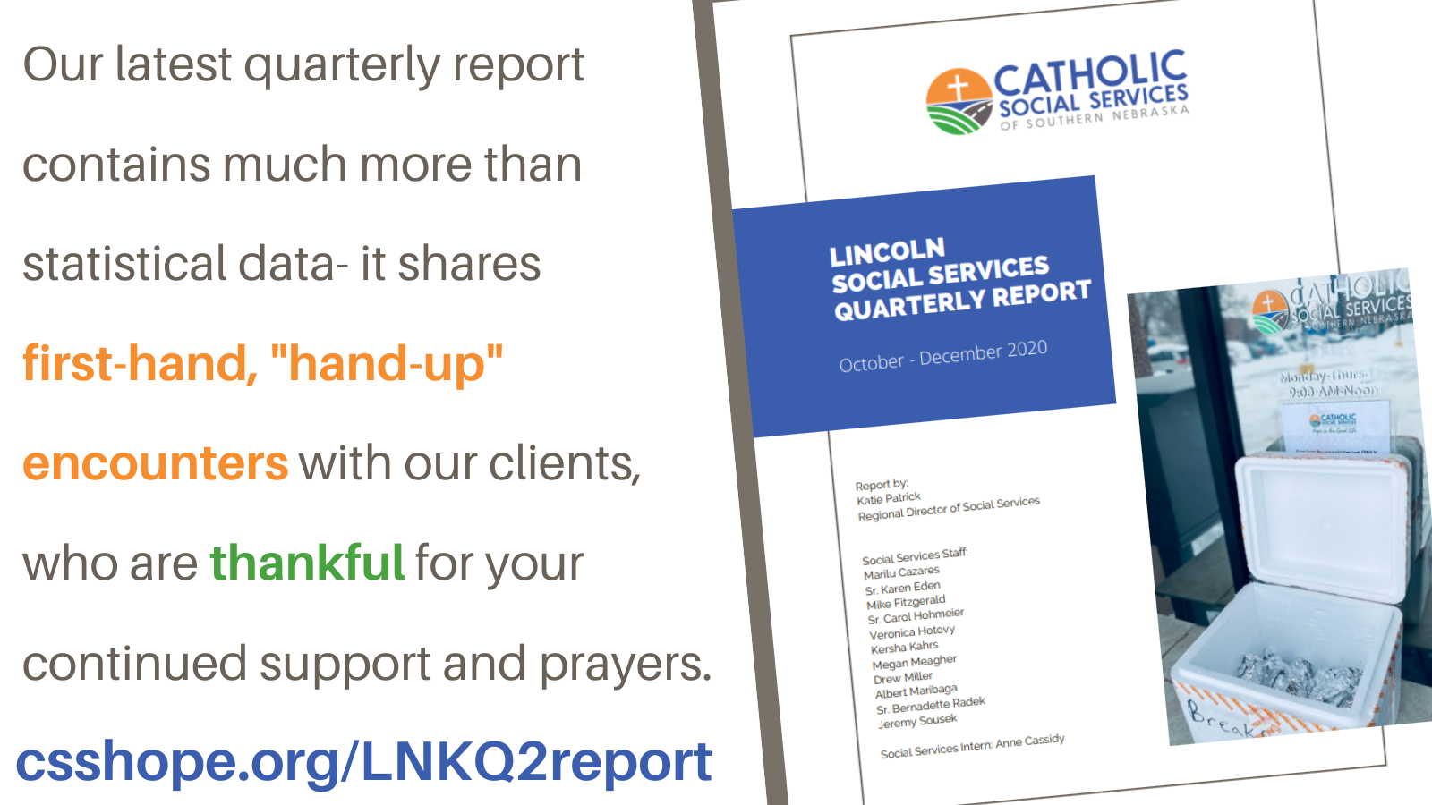 CLICK TO READ: 3 months of #HopeintheGoodLife! Presenting our Lincoln Social Services report from Oct-Dec 2020