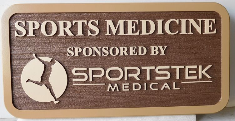 B11038 - Carved, HDU Sign for Sports Medicine Medical Office