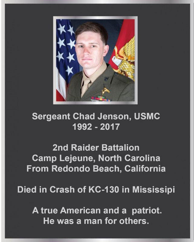 GC16840-  Silver Memorial Wall Plaque for Sergeant of the US Marine Corps, with Photo