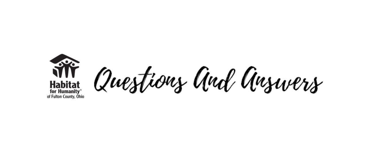 Habitat Q & A (VIRTUAL) Application Process
