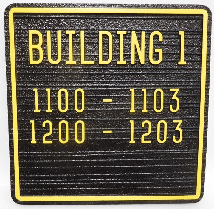 KA20844- Custom Unit Number Building Sign for an Apartment Complex
