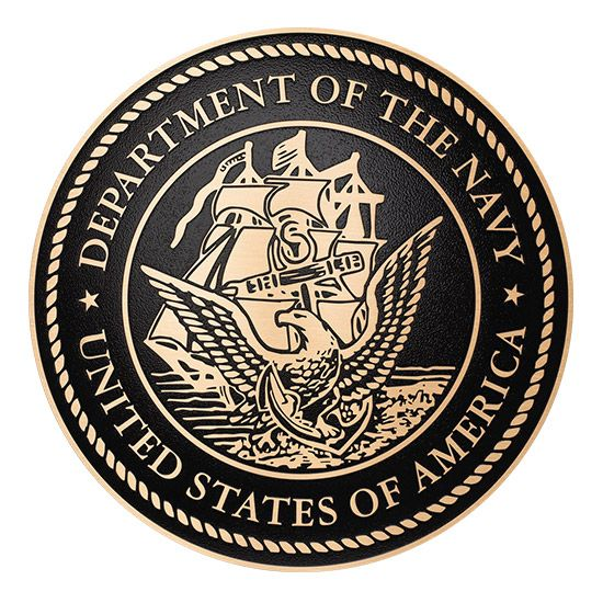 M7060 - Cast Bronze Plaque of the Seal  of  US Navy, 2.5-D