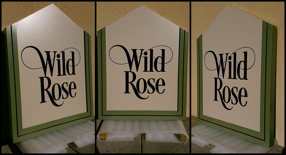 Wild Rose Cabin Sign
