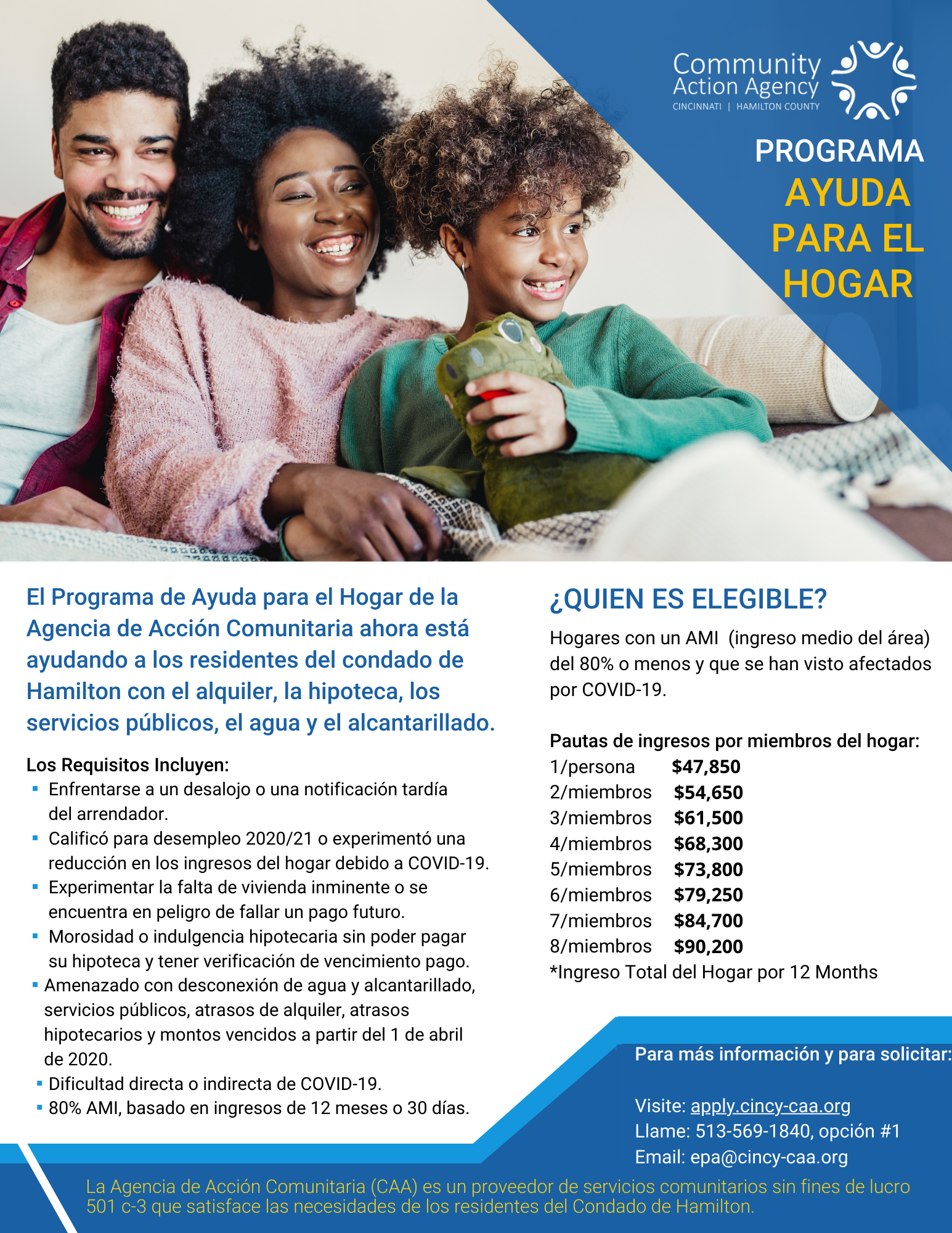 Download and print our Home Relief Assistance flyer in Spanish!