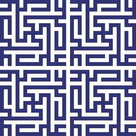 Greek Key Purple Wallpaper