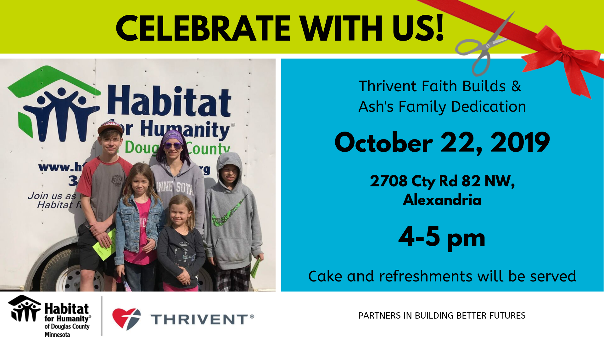 Thrivent Faith Builds Dedication for Ash's Family - October 22, 20190