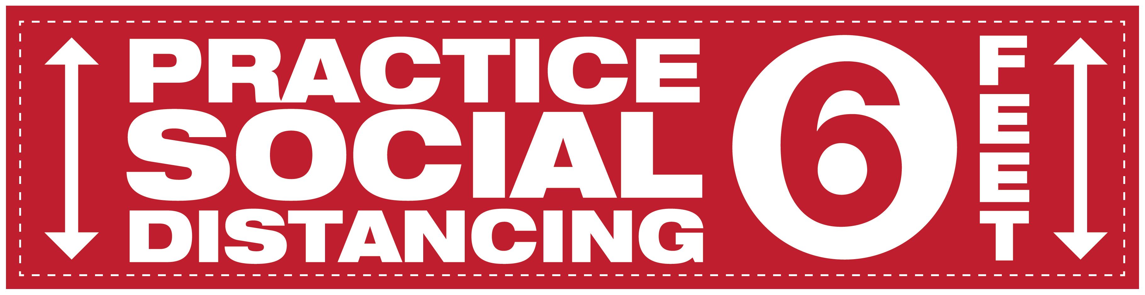 Social Distancing Floor Graphic