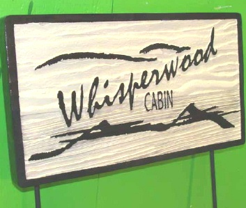 M22218 - Sandblasted Redwood Sign, Painted