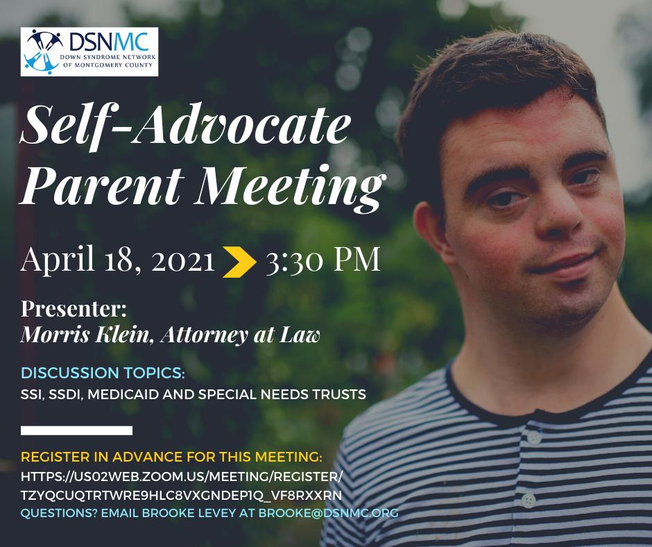 Self-Advocate Parent Meeting
