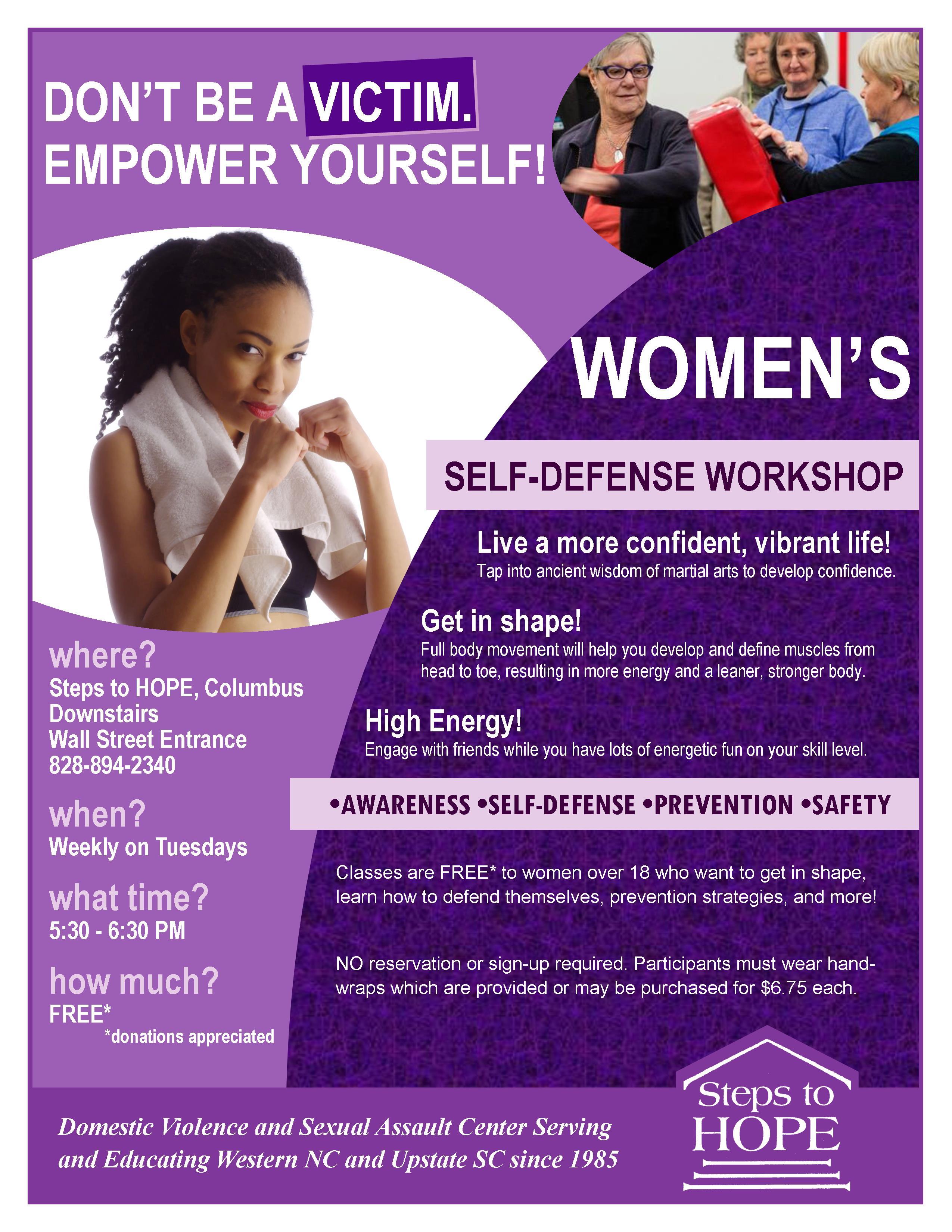 Women's Self Defense CANCELLED