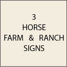 O24200 - Horse Farm & Ranch Signs