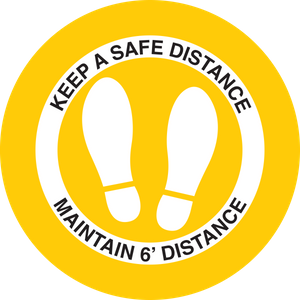 Maintain 6' Distance
