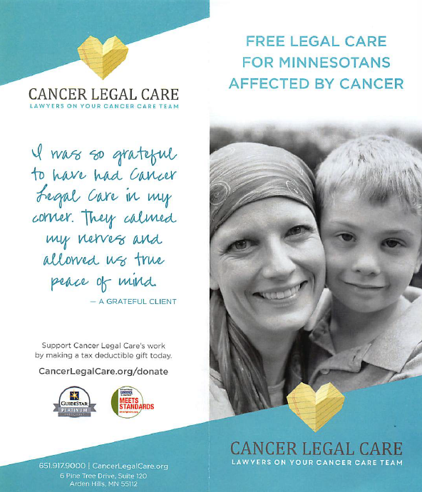 cancer legal care what we do request a brochure