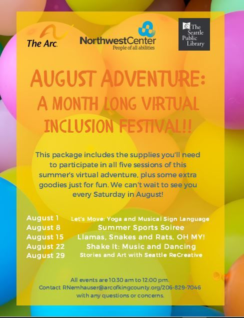 A Month Long Virtual Inclusion Festival: Summer Sports Soiree