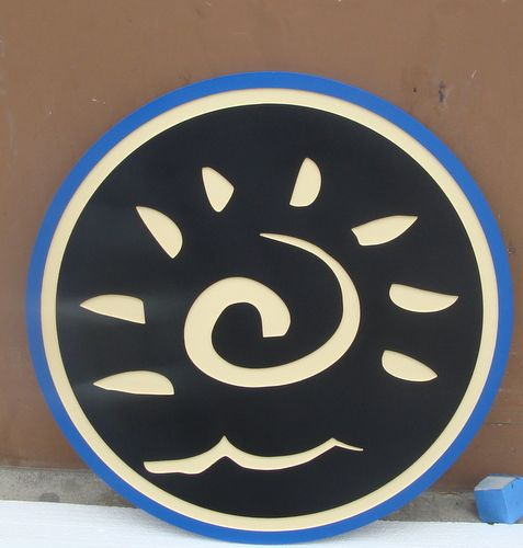 F15550 - Carved HDU Sign with Trademark or Insignia