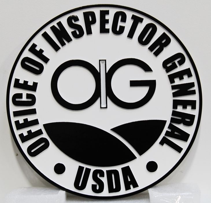 AP-6147 - Carved Plaque of the Seal of the Office of Inspector General, US Department of Agriculture