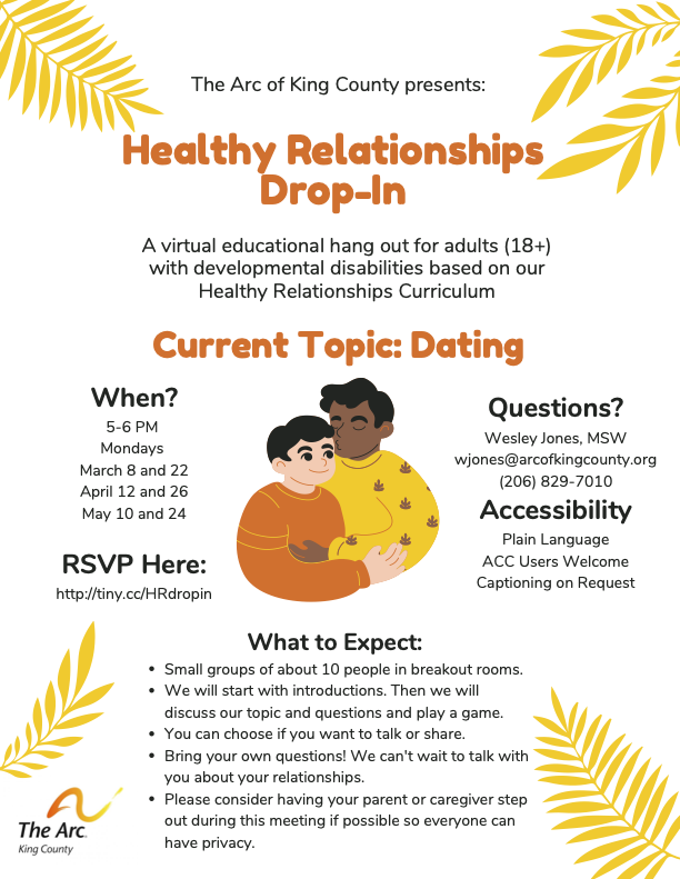 Healthy Relationships Drop-In Flyer