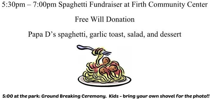 Splash Pad Spaghetti Feed and Ground Breaking Ceremony