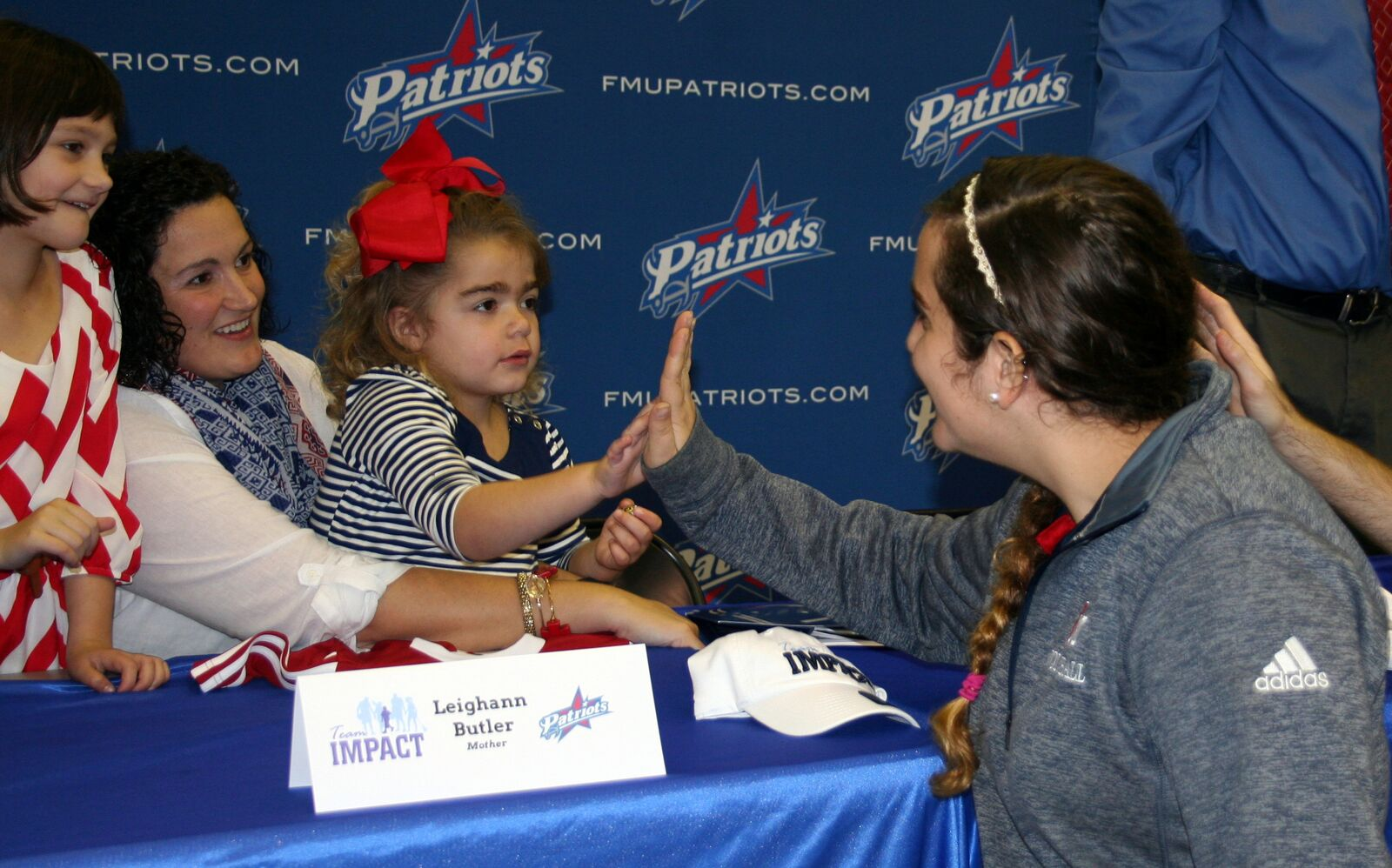 FMU Women's Soccer team drafts 5-year-old Patriot with Team IMPACT