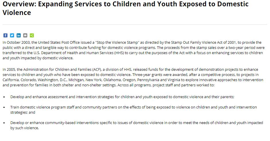 Expanding Services to Children and Youth Exposed to Domestic Violence