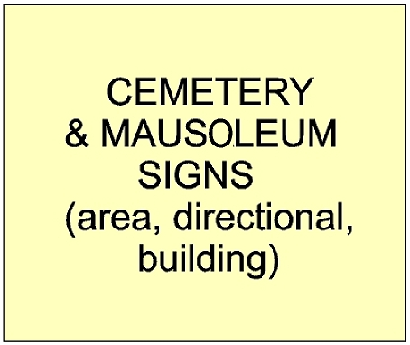 GC16910 - Cemetery and Mausoleum signs