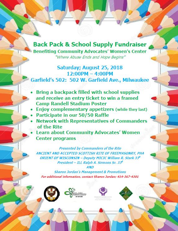 Back Pack & School Supply Fundraiser
