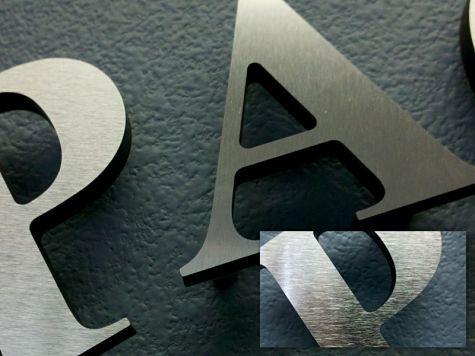 Brushed Aluminum Letters