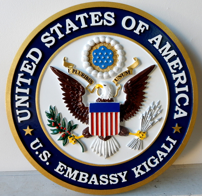 U30331 - Wall Plaque for US Embassy in Kigali