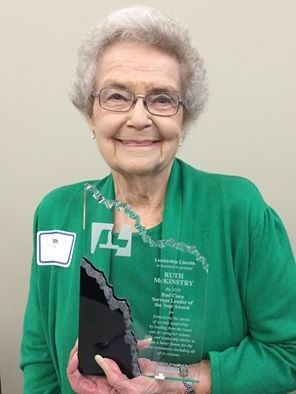 Ruth McKinstry receives Bud Cuca Servant leader of the Year Award