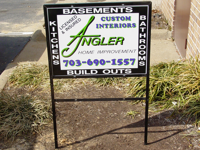 Angler Yard Sign