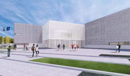 Graphic presentation of future Cyber Center for Education and Innovation and home of the new National Cryptologic Museum