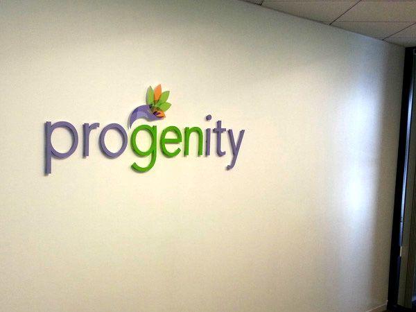Progenity 3D lobby Sign