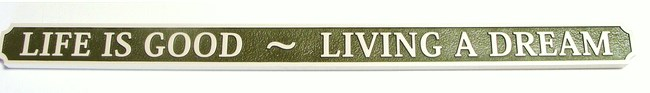L21898 - Sandblasted Quarterboard Plaque for Seashore Home