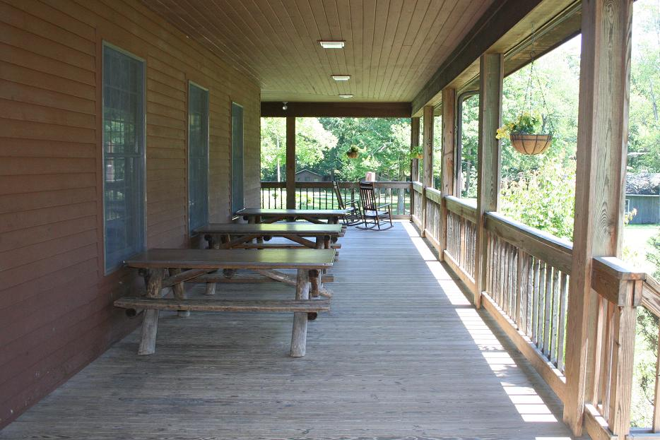 Dining Hall Porch w/ Tables