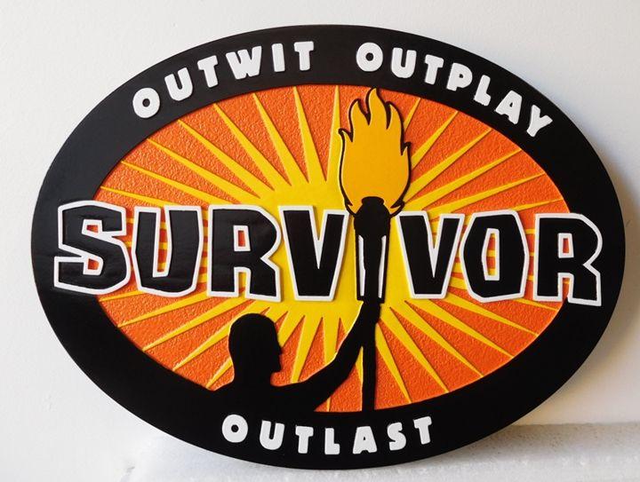 "SA28454 - Carved HDU Sign  for the ""Survivor"" Business"