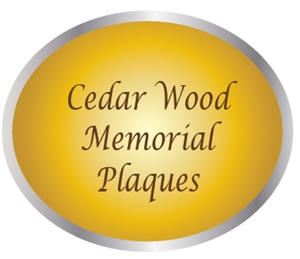 ZP-5000 -  Carved Memorial and Commemorative Wall Plaques, Engraved Cedar Wood
