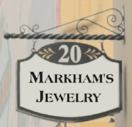 SA28315 - Large Two-Sided Hanging Jewelry Store Sign