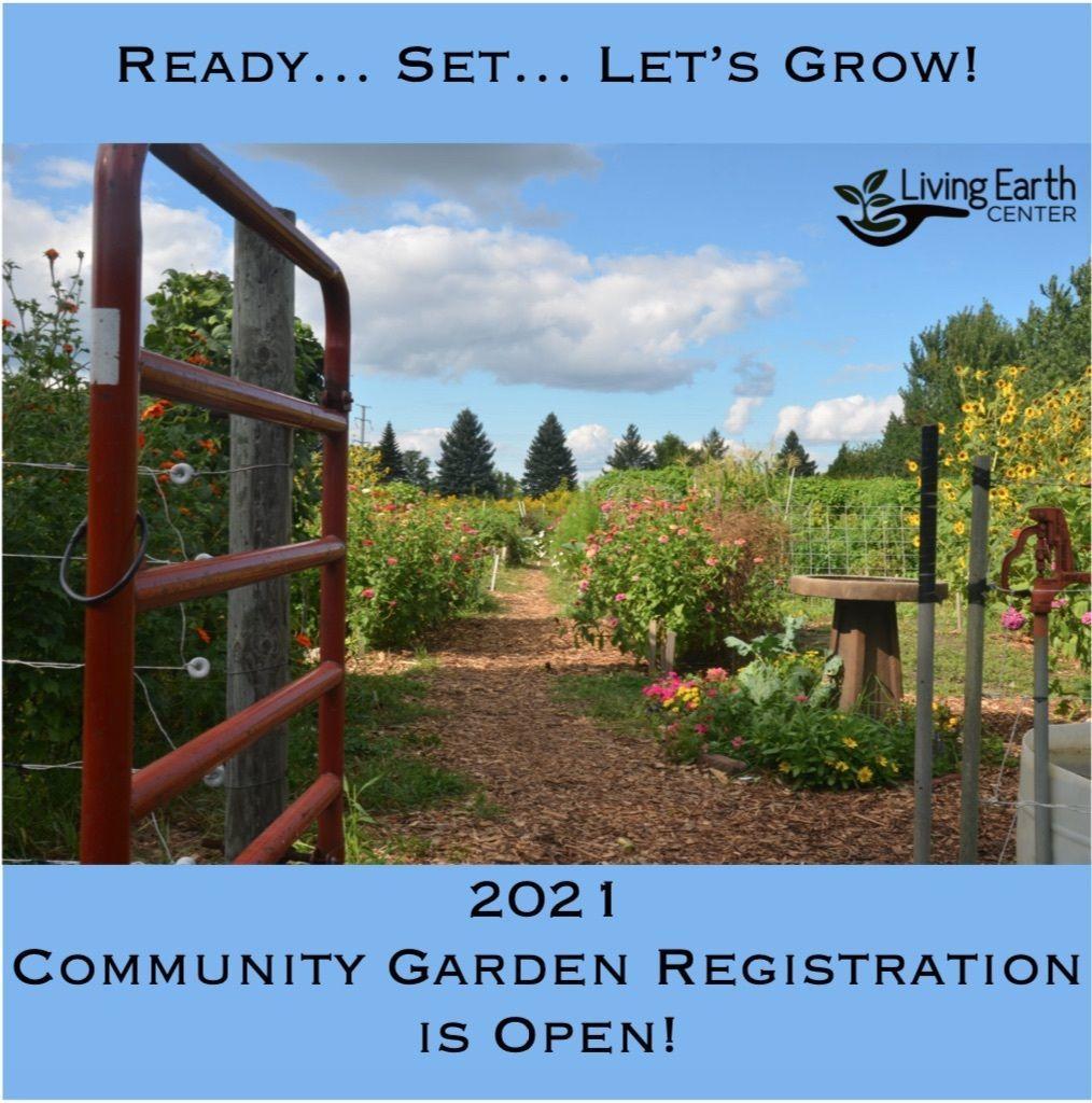 Registration for 2021 Community Garden Season Open!
