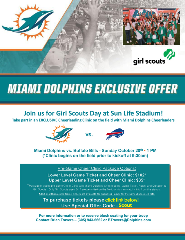 Girl Scout Day with the Miami Dolphins