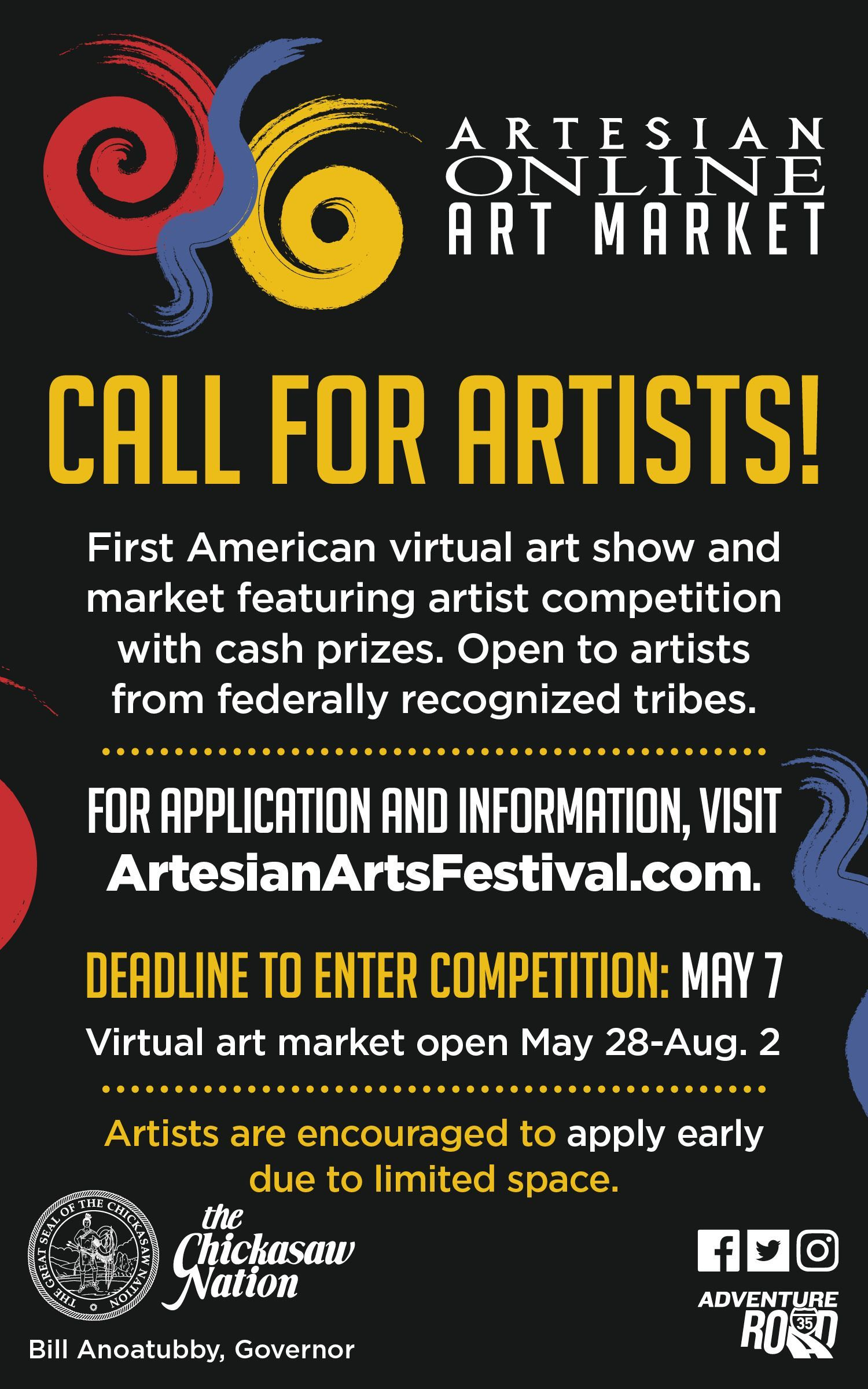 Call to Artists from Federally Recognized Tribes to Participate in an Online Virtual Artist Market