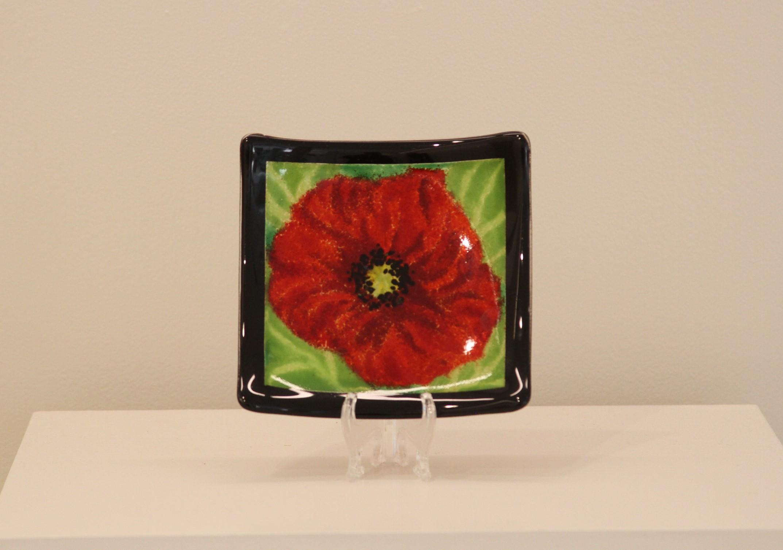 Poppy Red, Black Border