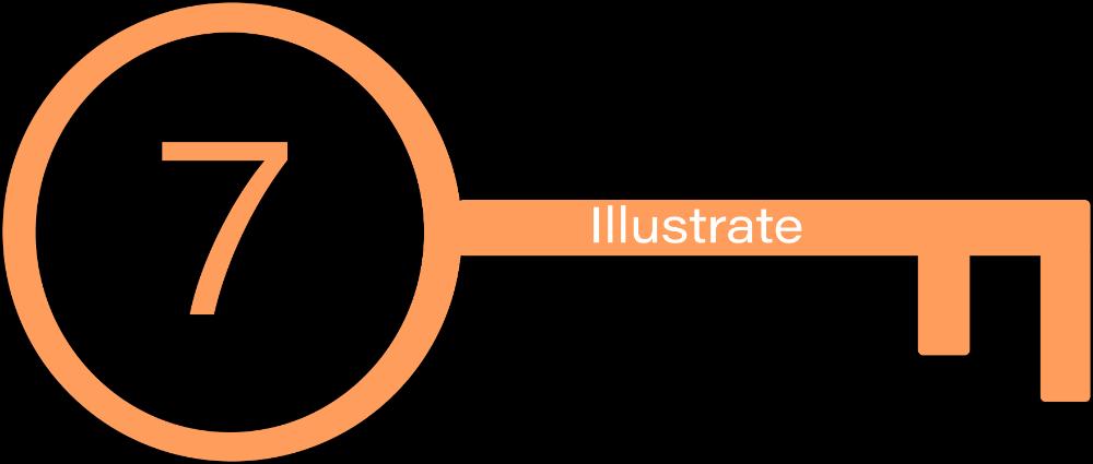 Key  7: Illustrate