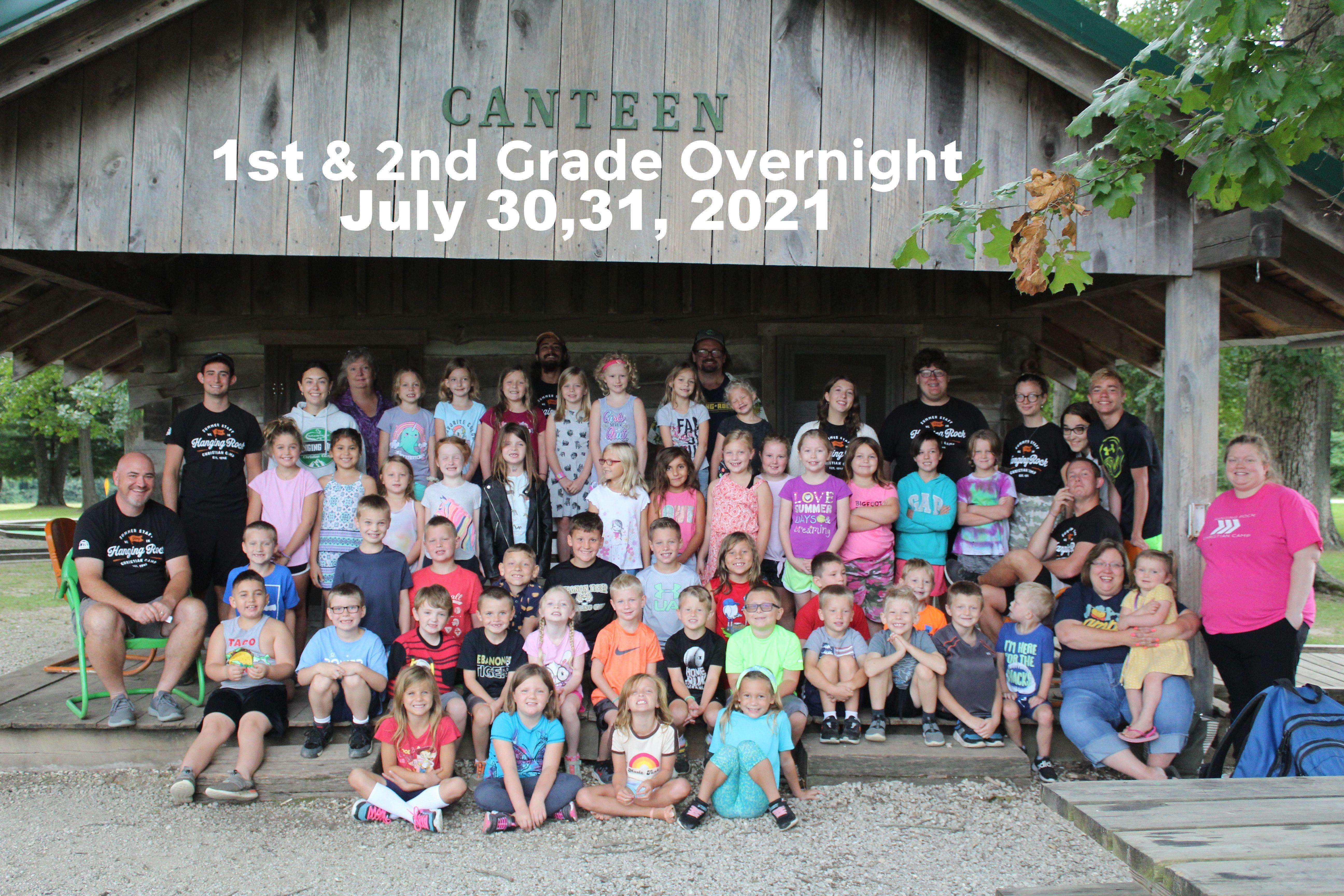 1st & 2nd Grade Overnight