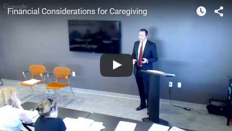 Financial Considerations of Caregiving - Video