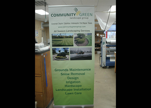Community Green Landscape Banner Stand 2